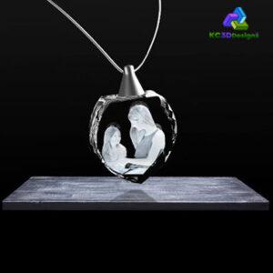 2D Crystal Heart Necklaces - KC 3D Design