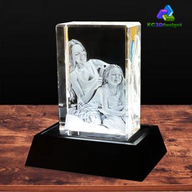 3D Crystal Rectangle Tall - KC 3D Design