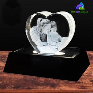 3D Crystal Heart - KC 3D Design