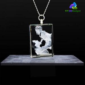 2D Crystal Rectangle Necklaces - KC 3D Design