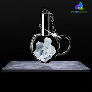 3D Crystal Heart Keychains - KC 3D Design